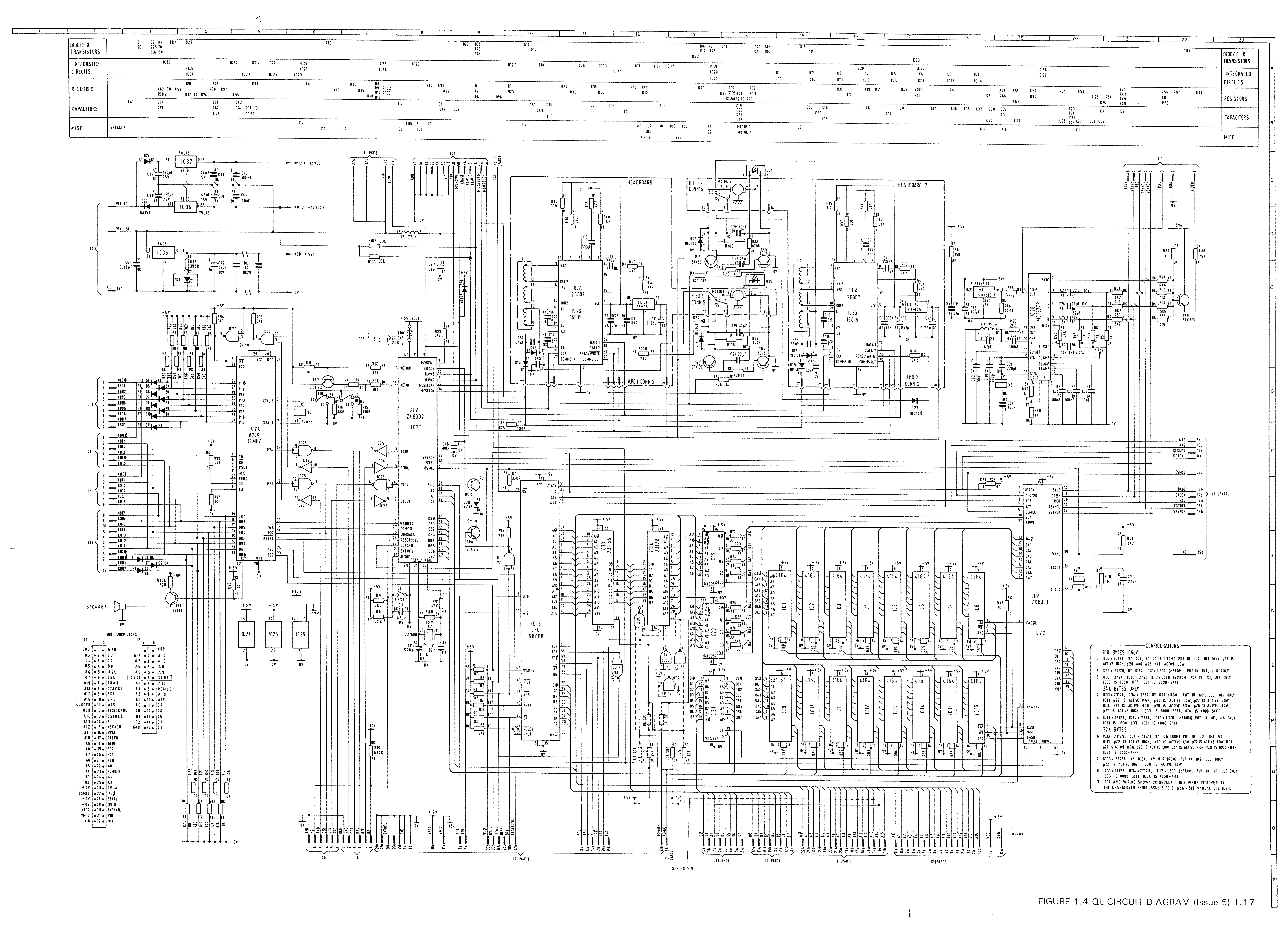 Sinclair Ql Documentation Circuit Diagram Year 6 Issue Colour 9mb Mono 05mb Block 28mb 99kb