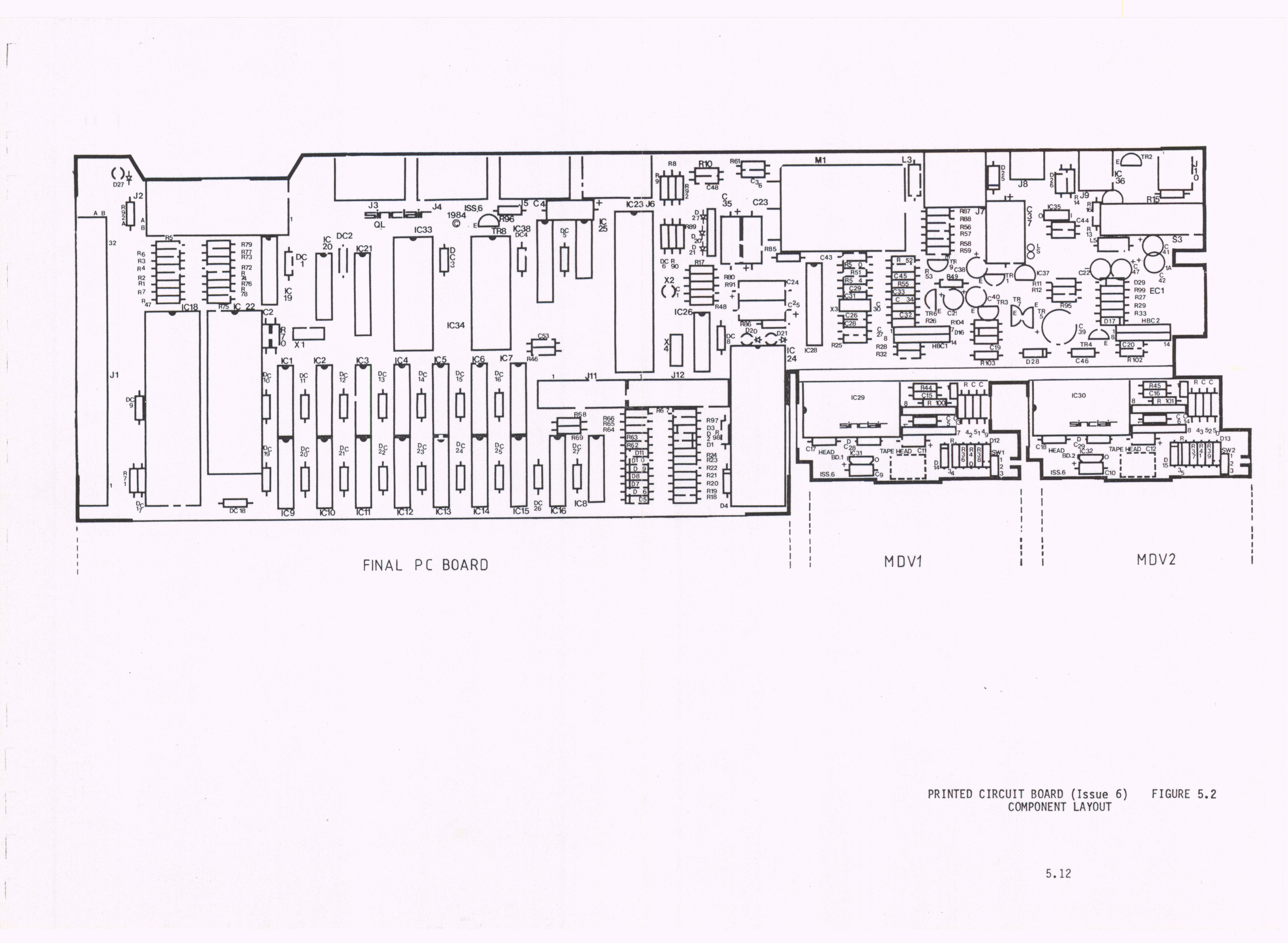 Sinclair Ql Documentation Pinout Further Scart To Vga Cable Diagram In Addition Wiring Circuit Issue 6 Mono 05mb Block Colour 28mb 99kb Pcb Component Layout 5 35mb